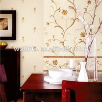 beautiful flower design vinyl wall paper for home decor
