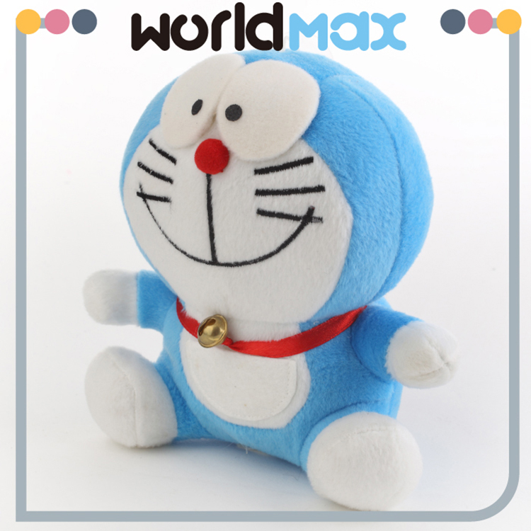 Different Size Promotional Gift Plush Smiling Doraemon Cartoon Kid Girls Toys
