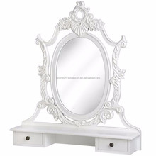 Cheap price new simple design modern bedroom furniture wood white dressing table mirror