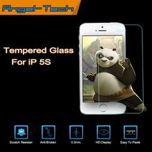 0.3mm/0.4mm Tempered glass screen protector for iPhone 5s