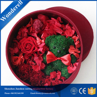 Professional deboss package design round box flowers