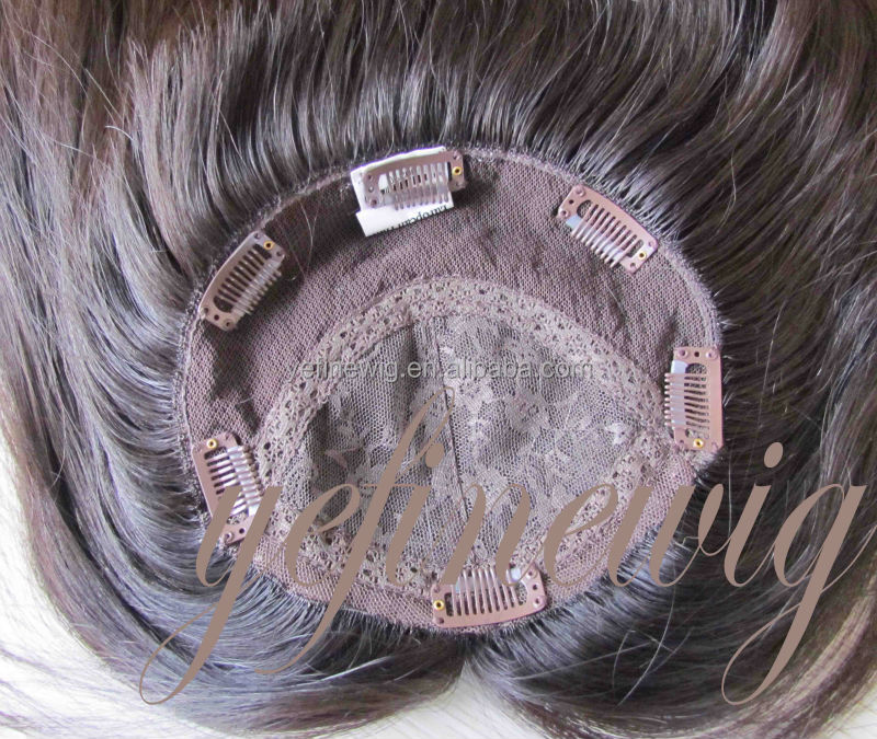 Hand Tied Silk Base Remy Human Hair Topper For Women