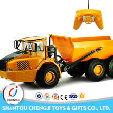 Top quality 1:28 scale plastic 6CH mini rc dump truck for sale