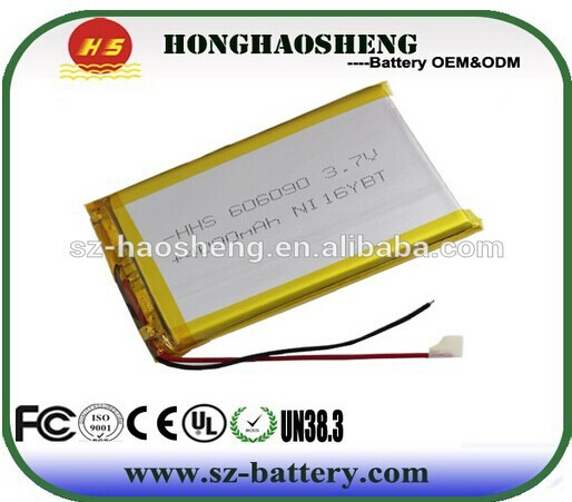 606090 3.7v li-ion polymer battery 4000mah li-polymer battery 4ah for RC car/helicopter/softgun products