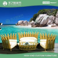 Luxury HD Designs Outdoor Furniture / Big lots Outdoor Furniture / PE Rattan Outdoor Sofa Set