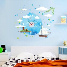 PVC Removable Clock Wall Sticker