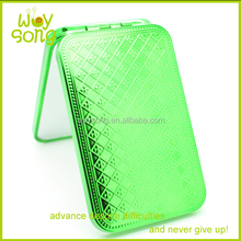 Rectangular Plastic Pocket Mirror With Cover