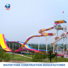 Hot sale 2017 HZQ-45 Model spiral fiberglass water slides for sale factory in china