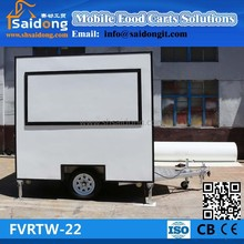 Commercial mobile kitchen food van- food cart- food trailer with promotion price