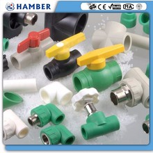 wholesale manual directional control valve pneumatic actuator stop valve ppr pipes fittings with brass core and body