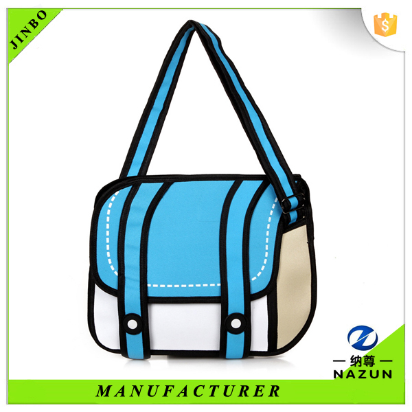 online shopping china factory wholesale fashion customized 3d bag cartoon at cheap price