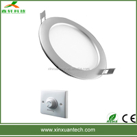 Shenzhen factory direct sale 120mm round 6w led flat panel wall lights