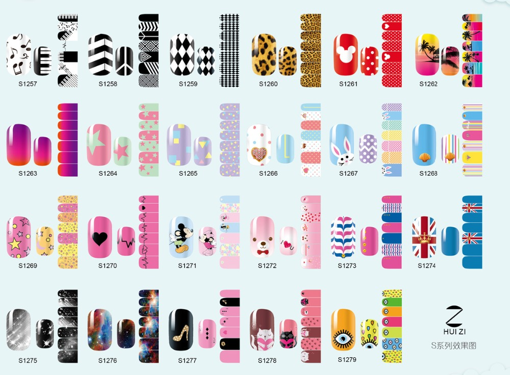 Diy jamberry nail polish stickers nail wraps for finger nails