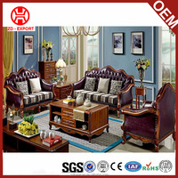 Italian style antique sofa living room furniture leather sofa for sale M-6720