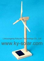 plastic mini solar powered windmill