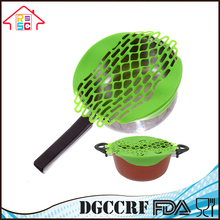 Silicone Flat Splatter Screen Frying Strainer With Antiskid Handle Pot Cover Pan Lid