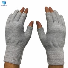13 gauge nylon carbon fiber ESD cut three fingers dust operational work safety gloves