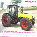 80hp to 110hp farm tractor,12F+4R shift right side,hydraulic steering,dual disc clutch,540/1000 PTO,diesel engine,cabin with A/C