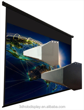 43 format customized electric screenlarge projector screen on center