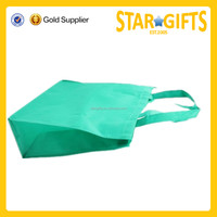 2015 New product high quality light green non woven reusable shopping bags