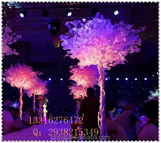 outdoor garden decorative fake artificial ginkgo tree with light/real bark led lighted ginkgo