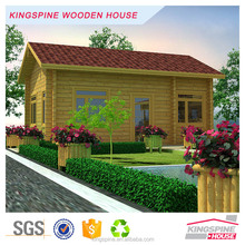 Low Cost Prefabricated Log Cabin Chinese Kingspine Wooden House KPL-005