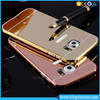Luxury Aluminum Metal Bumper+Acrylic Back Cover Mirror Phone Case for Samsung S7/S7 Edge/S7 Active