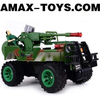 rb-2007033 emulational rc jeep Emulational Remote Control Off-road Military Jeep with Lifelike Soldiers