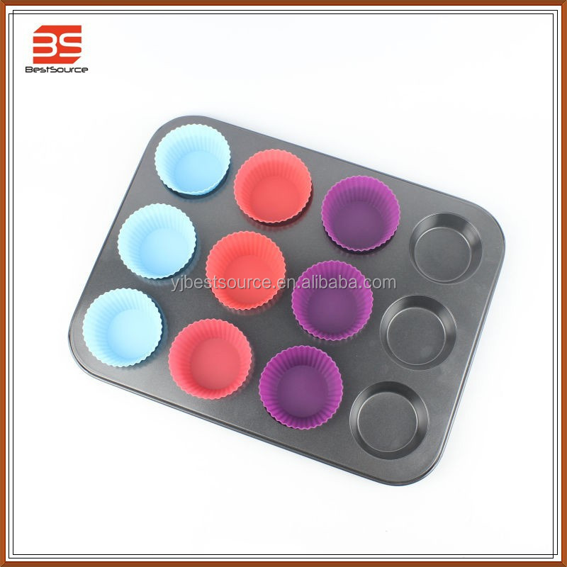 High quality eco-friendly silicone cup cake/mini cake mould/muffin tray