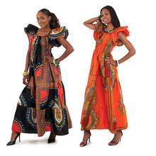 Wholesale African Traditional Print Clothing Dress Styles