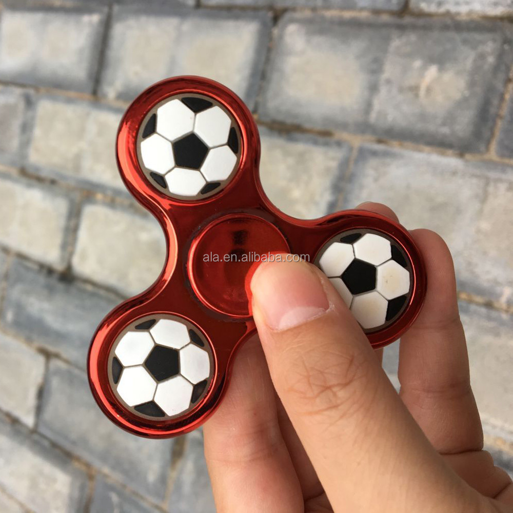 Football in the centre Hand Spinners Fidget Toy Stress Reducer with High Speed Bearings 3 To 5 Min Spin Times