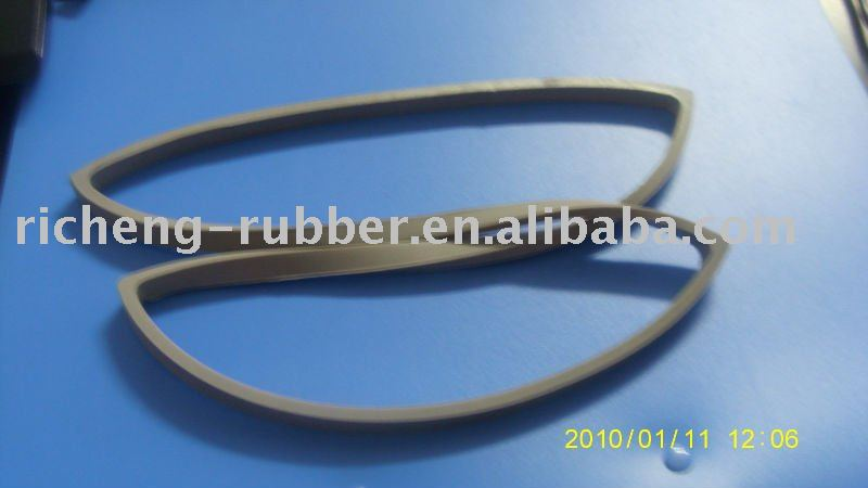 molded/extrusion lamp silicone rubber strip with FDA ROHS