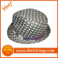custom fashion wholesale mini straw hats
