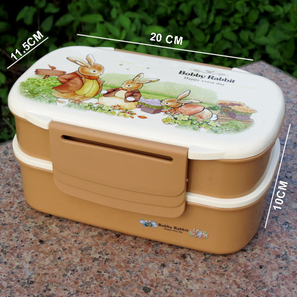 Compartment Large size Double Layer bento lunch box