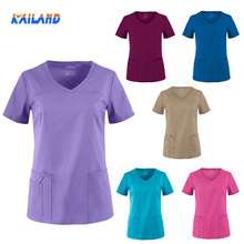 Medical Scrub workwear Nurse Hospital Uniforms Dental Clinic Short Sleeve Nurse workwear