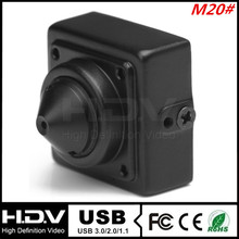 20*20mm, 720P, 0.1Lux, 30fps, UVC, 3.7mm Pinhole Lens USB 2.0 MINI USB Camera for ATM and Kiosk (HDV-USB720MPM20-P3.7)
