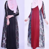 Lastest Dubai Abaya 2016 Islamic Wear Clothes Muslim Maxi Casual Dress For Women