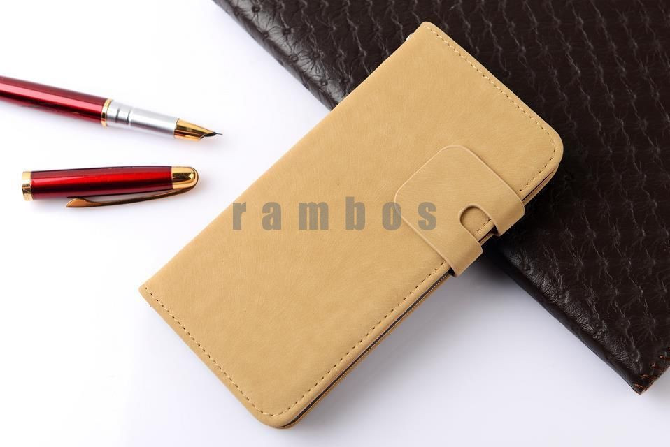 PU Leather Flip Case Phone Cover Cases with Wallet & Stand Function for Lenovo S850 A820 A850 A520 A500 A620 A880
