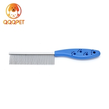 Hot sale high quality dog comb ABS handle single side pins pet fine comb