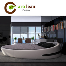 2016 New Style Modern Furniture Leather Adult Round Bed Y03