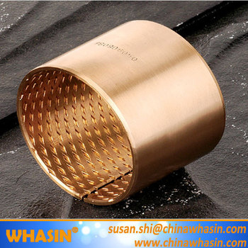 CuSn6.5P CuSn8P CuPb10Sn10 Wrapped Bronze Bearing Sleeve With Diamond Oil Pocket FB Bronze Bushing WB700 Bronze Bush