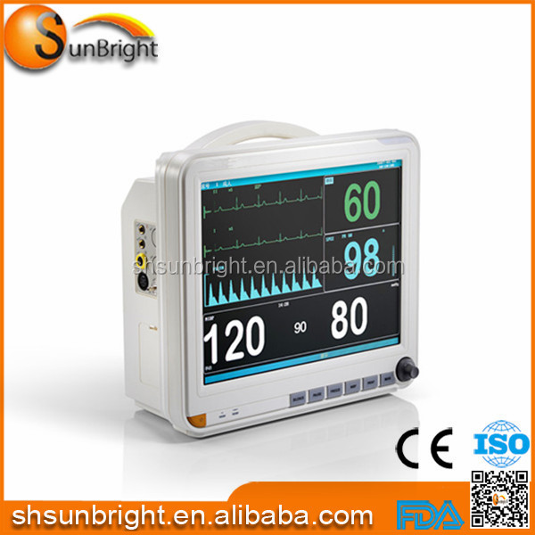 "clinic hospital use cardiac monitor equipment 15"" sun-700K Patient Monitor"