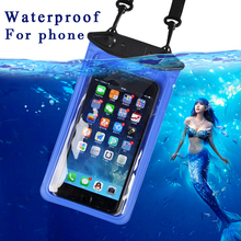 Touch Screen Plastic Transparent Phon Universal WaterProof PVC Mobile Phone Cases Waterproof Bag Case