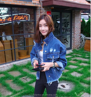 2015 In-Stock High Quality denim coats and jackets woman wholesale denim jackets
