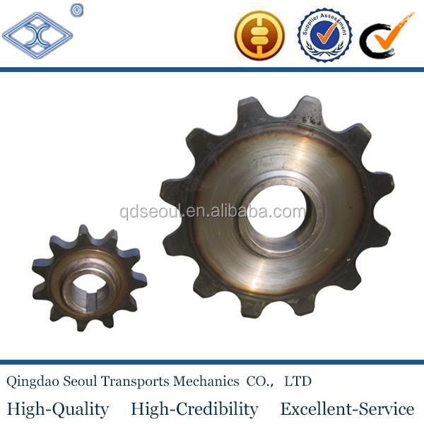 OEM standard pitch100 mm M40 conveyor chain 12T harden teeth sprocket with hub