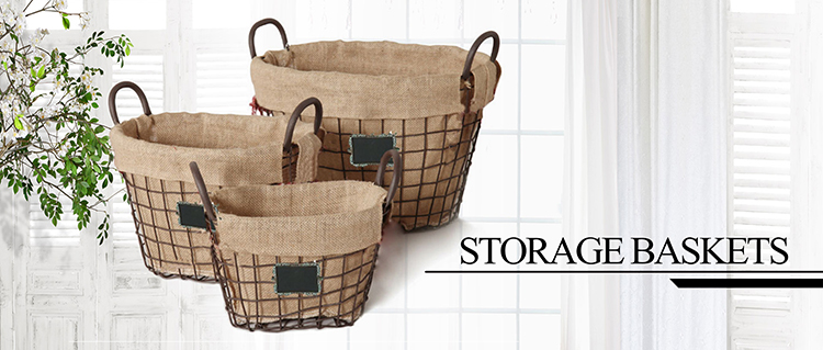 Best selling high quality cheap price metal & wood baskets