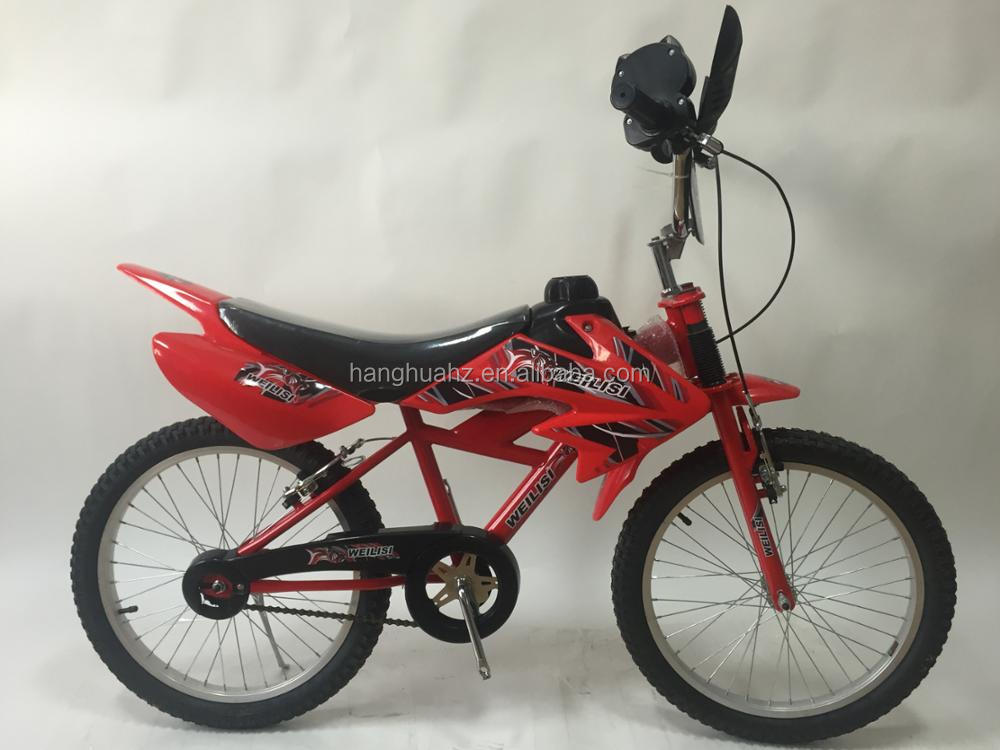 kids plastic moto bike with 20 inch