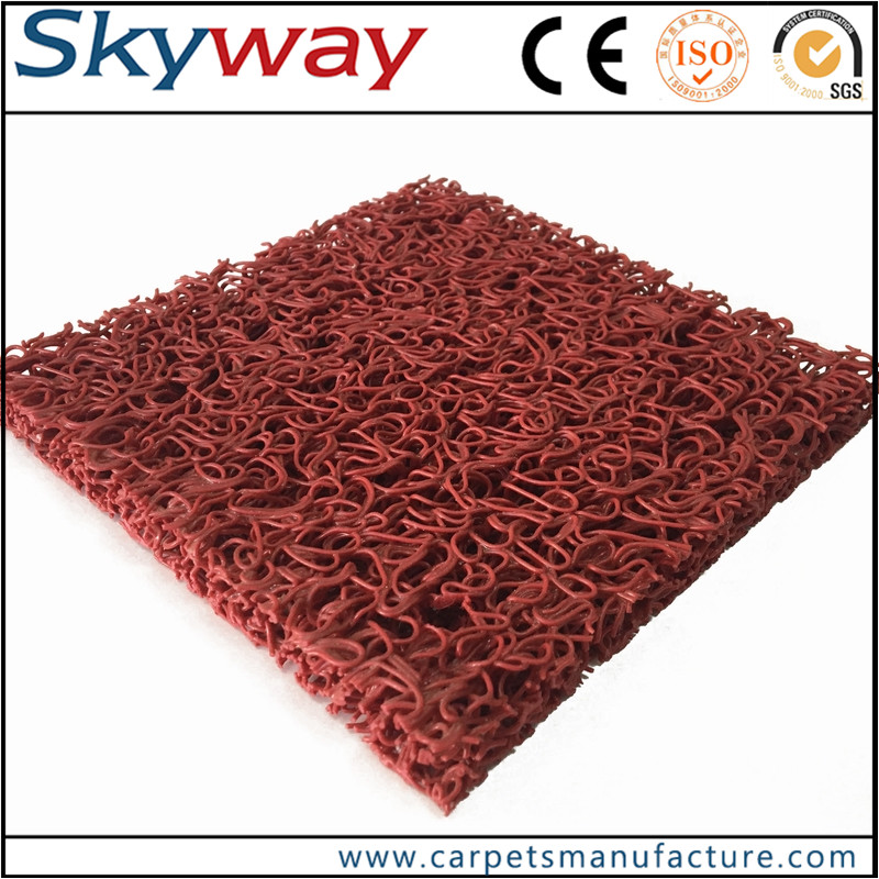 100% pvc mats with corrugations for scraping and ridges for trapping dirt