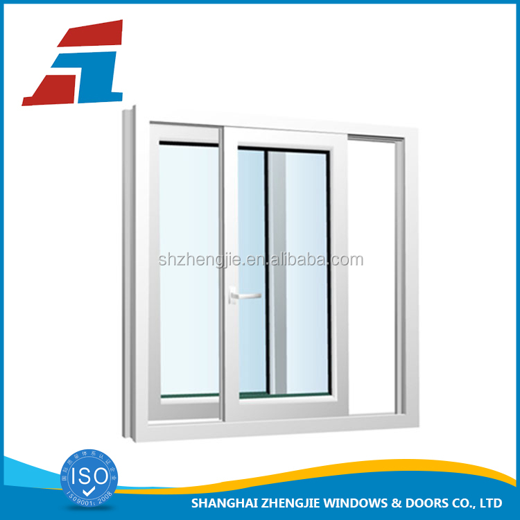 2017 shanghai new sliding aluminium window frame tempered glass