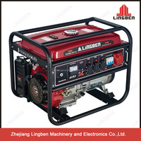 ZheJiang LingBen Machinery 5Kw Air-Cooled Electric Gasoline Generator Set Cheap Price For Sale With CE TaiZhou Factory Pakistan